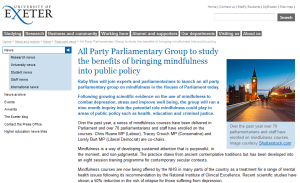 Mindfulness in UK Parliment